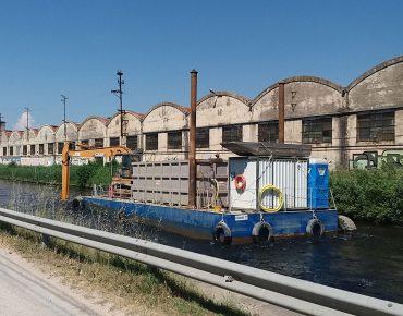 Dragaggio di un tratto del canale di collegamento tra il Fiume Arno ed il Canale dei Navicelli – Canale Incile – anno 2017 - Vanni Pierino - Pisa e Livorno